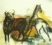 Danielle Gau, Stier und Pferd